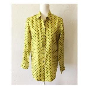 Banana Republic silk collared blouse paisley